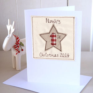 Personalised 1st Christmas Card