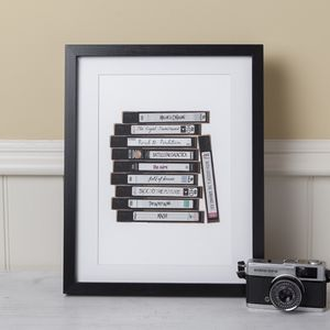 Personalised Favourite Film Movie Tv Vhs Video Print - art by category
