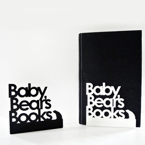 Baby Bear Bookends - living room