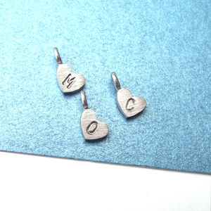 Personalised Little Heart Without Chain - charm jewellery