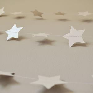 Metallic White Christmas Shimmer Stars