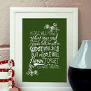 Inspirational Typography Quote Print