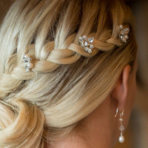 Set Of Downton Wedding Hair Pins - head pieces