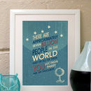 Personalised Retro Style Love Print