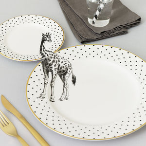 Giraffe Plate Set - tableware