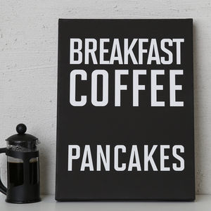 Breakfast Coffee Pancakes Print Or Canvas - canvas prints & art