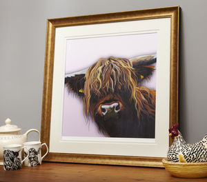 Chieftain Cow Print - original art under £100