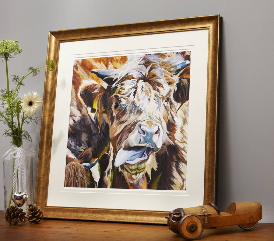Little Rascal Highland Cow Print