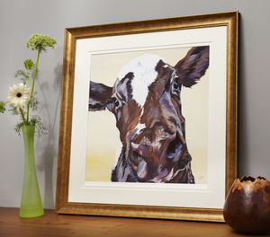 Ruby Cow Print - contemporary art