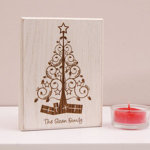Personalised Mini Christmas Family Tree Artwork
