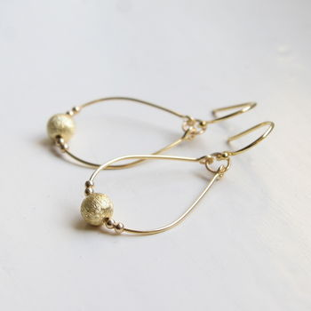 Contemporary Precious Metal Drop Earrings