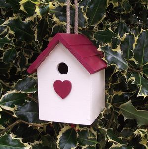 Valentine's Bird House - birds & wildlife