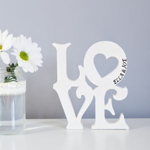Personalised 'Love' Standing Word