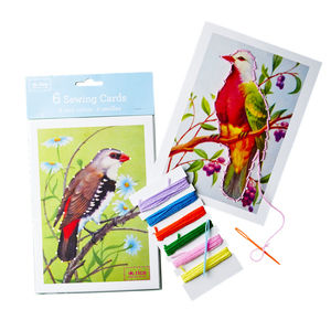 Bird Sewing Cards