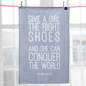 'The Right Shoes' Tea Towel