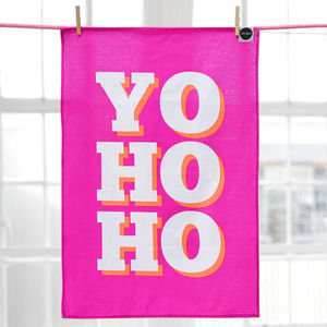 'Yo Ho Ho' Christmas Tea Towel