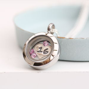 Sweet 16 Floating Charm Locket - birthday gifts