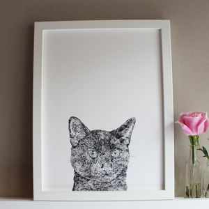 Black Cat Print - posters & prints for children