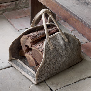 Tweed Log Carrier