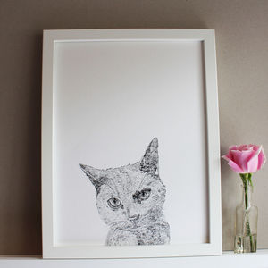 Cat Print - posters & prints for children