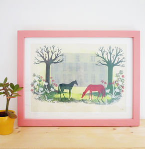 'Grazing' Limited Edition Screen Print - limited edition art