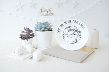 'I Love You To The Moon And Back' Porcelain Plate