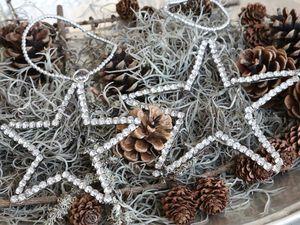 Diamante Star Hanging Decoration - tree decorations