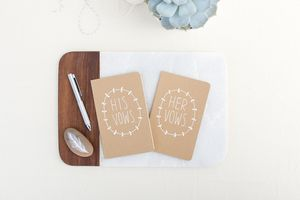'His Vows And Her Vows' Moleskine Notebooks - albums & guestbooks