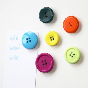 Set Of Six Button Magnets