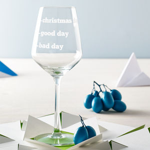 Personalised Wine Glass - last-minute christmas gifts for her