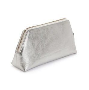 Metallic Cosmetics Case - make-up & wash bags