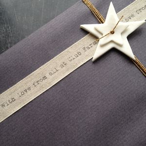 Personalised Ribbon With Typewriter Font - christmas ribbon