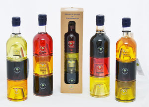 Bespoke Triple Stacking Oil And Vinegar Gift Set - oils & dressings