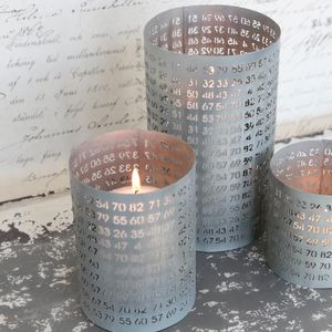 Large Zinc Pot With Numerical Laser Cut - candles & home fragrance