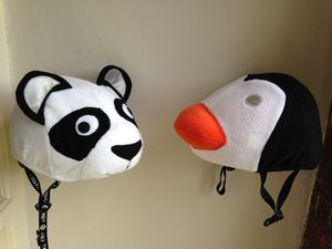 Child's Panda Hi Vis Helmet Cover