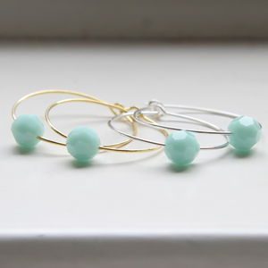 Hoops Elaborated With Faceted Swarovski Crystals - earrings
