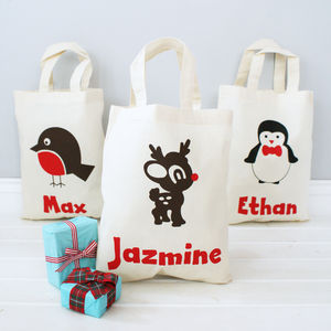 Personalised Christmas Gift Shopper Bag - wrapping