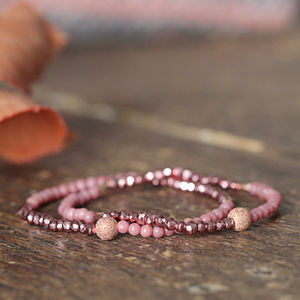 Pyrite And Rose Gold Bracelet - bracelets & bangles