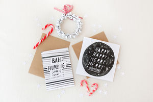 Christmas Card Multipack Bah Humbug/Happy Christmas - cards