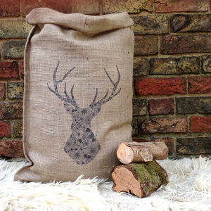 Christmas Stag Sack - stockings & sacks