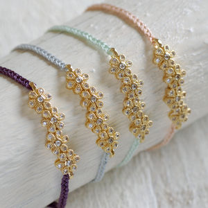Flower Friendship Bracelet - wedding fashion