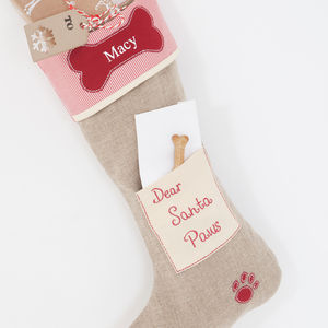 Personalised Dog Stocking - more