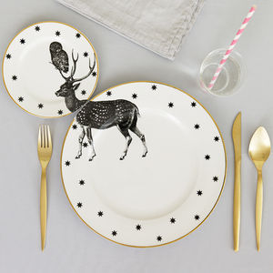 Stag Plate Set - dining room