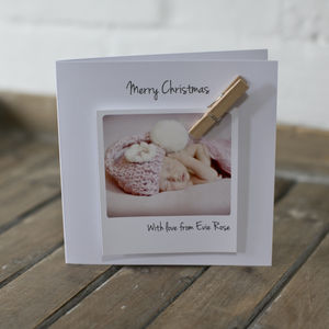 Personalised New Baby Photo Card - cards & wrap