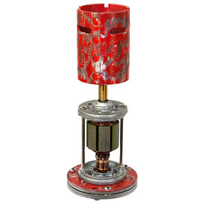Up Cycled Motor Industrial Tea Light Holder Red