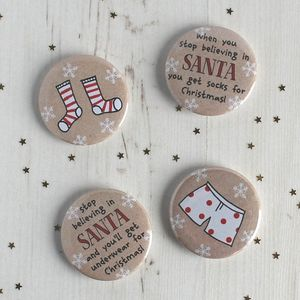 When You Stop Believing… Fun Badge Stocking Filler