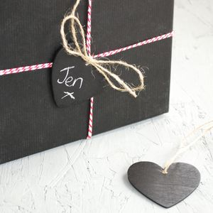 Chalkboard Heart Gift Tag - wedding favours