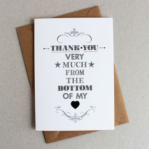 Pack Of Five 'Thank You…' Cards