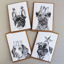 'Pack Of Four Celebration Dogs Cards'