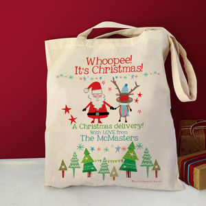 Personalised Christmas Delivery Bag - cards & wrap